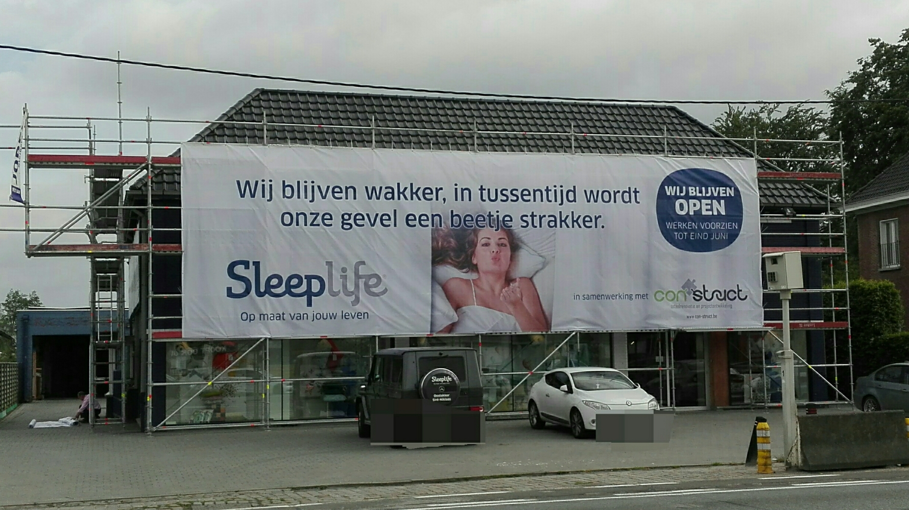 Steigerspandoek in mesh